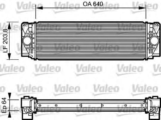 818732 Интеркулер VW: CRAFTER 30-35 автобус (2E) 2.5 TDI 06-, CRAFTER 30-50 c бортовой платформой/ходовая часть (2E) 2.5 TDI 06-