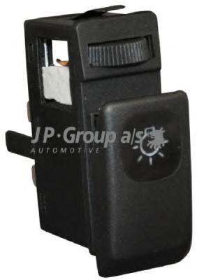 1196100200 Кнопка включения габаритных огней (с рег. яркости освещ. панели) / VW Golf-II,Jetta-II 83~