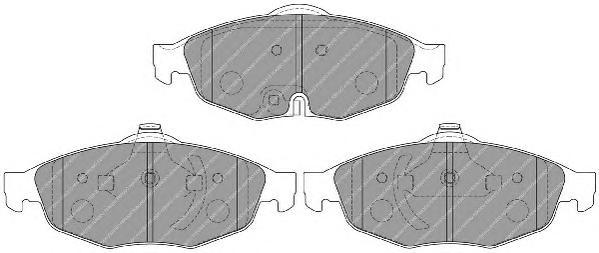 FDB1550 Колодки тормозные CHRYSLER SEBRING 2.0-2.7 01- /VOLGA SIBER 08- передние