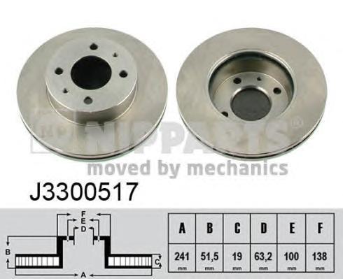 J3300517 Диск тормозной HYUNDAI ACCENT (LC) 00-06 передний вент.