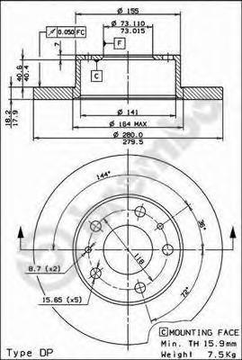 08590514 Тормозной диск