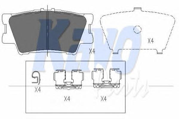 KBP9086 Колодки тормозные RAV 4 06/CAMRY 2.4/3.5 06 задние
