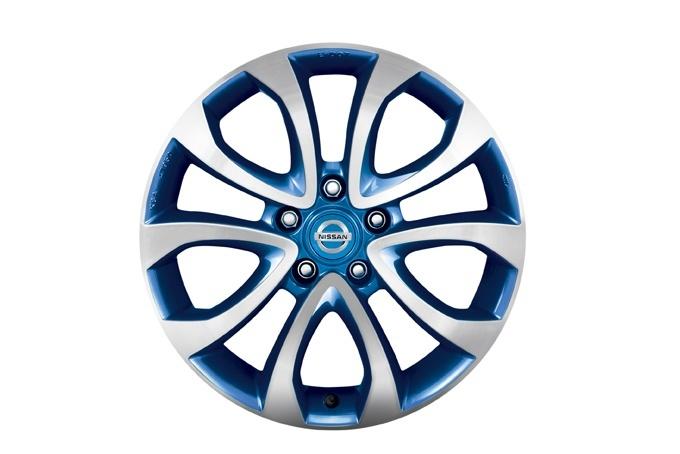 KE4091K200EB Диск колеса литой F15E R17х6.5J (синий)