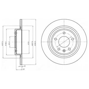 BG4279 Диск тормозной CHEVROLET CRUZE/ORLANDO/OPEL ASTRA J R16 09- задний D=292мм.