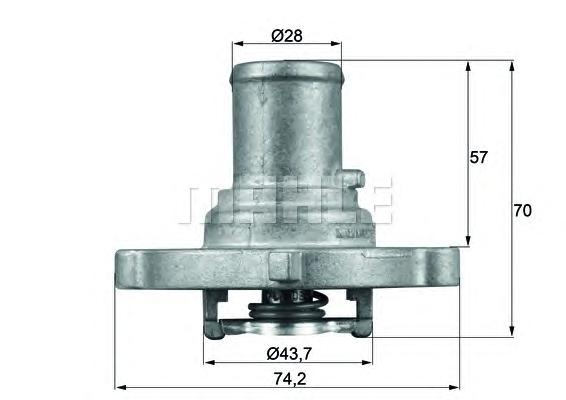 TI12287D Термостат FIAT: BRAVA 95-02, BRAVO I 95-01, IDEA 03-, MAREA 96-, MAREA Weekend 96-, PALIO Weekend 96-, PUNTO 1.2 1.2 16