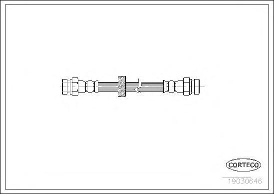 19030646 Шланг тормозной AUDI: 100 Avant S4 Turbo quattro 90-94  SEAT: INCA 1.4 16V/1.4 i/1.6 i/1.7 D/1.9 D/1.9 SDI/1.9 TDI 95-0