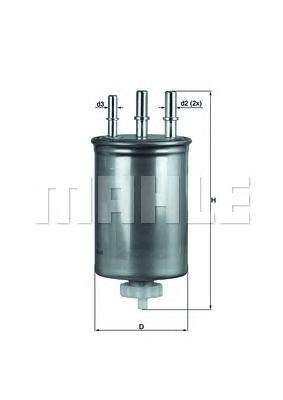 KL505 Фильтр топливный SSANGYONG KYRON/REXTON XDI 04-