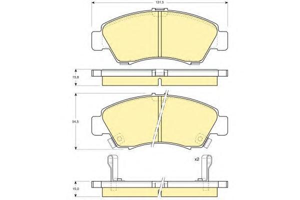 6111649 Колодки тормозные HONDA CIVIC 1.3-1.6 91-01/JAZZ 1.2/1.4 02- передние