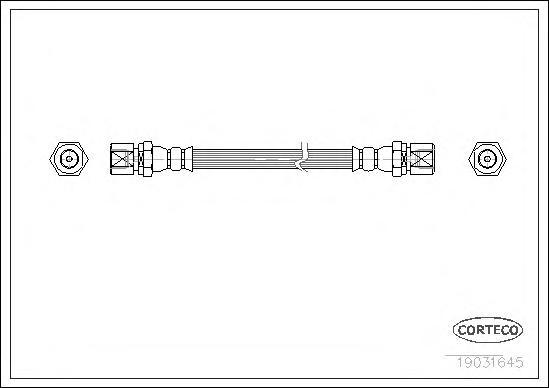 19031645 Шланг тормозной DAEWOO: LANOS 1.4/1.5/1.6 16V 97-