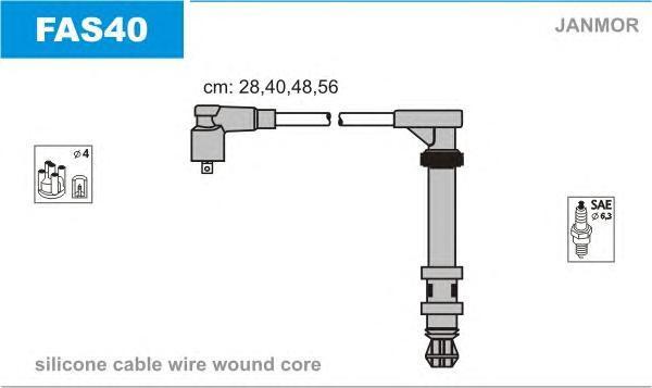 FAS40 Комплект проводов зажигания FIAT: MAREA 96-, LANCIA: LYBRA 99-, LYBRA SW 99-