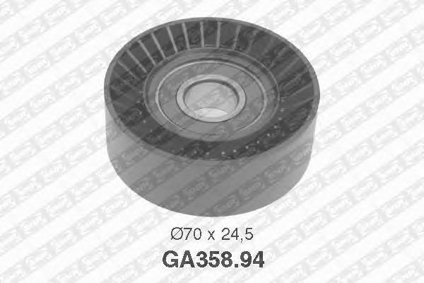 GA35894 Ролик промежуточный поликлинового ремня LANCIA: Lybra, FIAT: Albea, Multipla, Marea, Bravo, Palio, Brava, Doblo, Stilo,