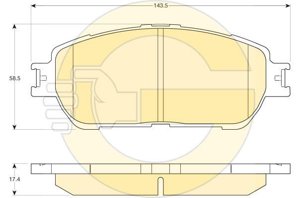6136126 Колодки тормозные TOYOTA CAMRY (V30) 01-06 передние