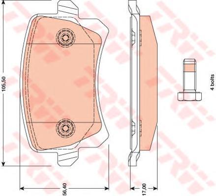 GDB1763 Колодки тормозные VW PASSAT/SHARAN 10-/TIGUAN 07-/SEAT ALHAMBRA 10- задние