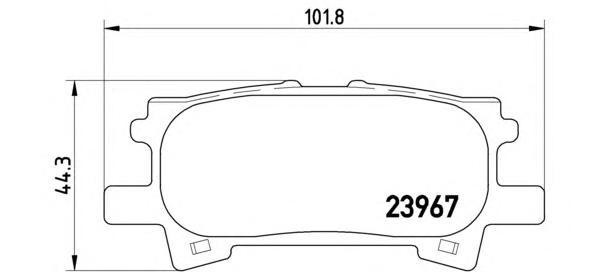 P83068 Колодки тормозные LEXUS RX300/RX330/RX350 0308/RX400H 0509 задние