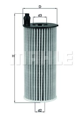 OX8131D Фильтр масляный BMW X3/X4 2.0D 14-