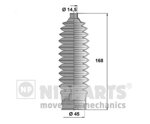N2847012 Пыльник рулевой рейки SUBARU LEGACY 2.0-3.0 03-