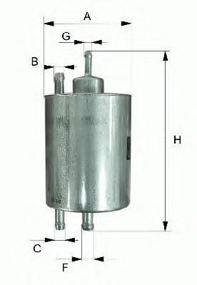 PP985 Фильтр топливный VW T5 1.9D-2.5D/TOUAREG 2.5D 03-
