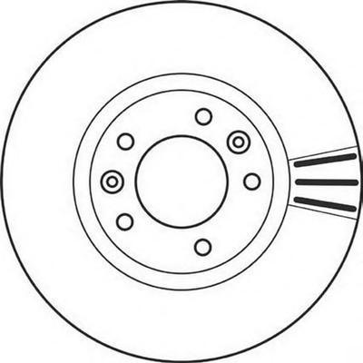 562126J Диск тормозной PEUGEOT 607 00-05 передний вент.D=283мм.