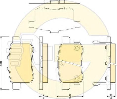 6134829 Колодки тормозные HONDA ACCORD 2.0-2.4 МКПП 08- задние