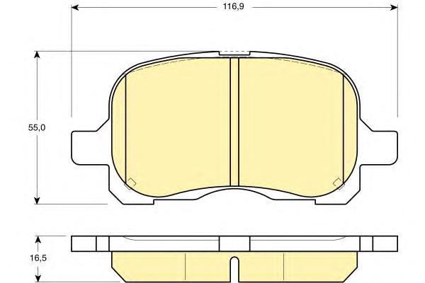 6132041 Колодки тормозные TOYOTA COROLLA 1.4/1.6 97-02 передние