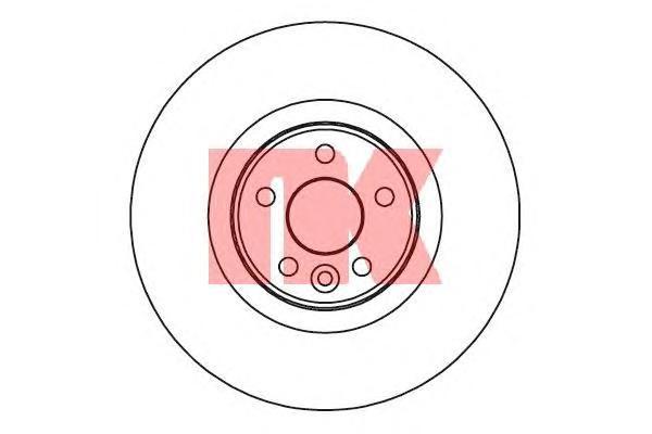 204856 Диск тормозной VOLVO S80 06-/V70 07-/XC70 05- передний вент.D=336мм.