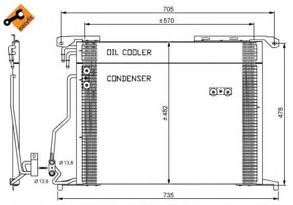 35578 Конденсер MB W220 98- 280/320/430