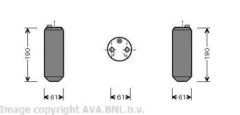 VOD108 Осушитель кондиционера VOLVO S60/S80/XC90 2.0-3.0 00-