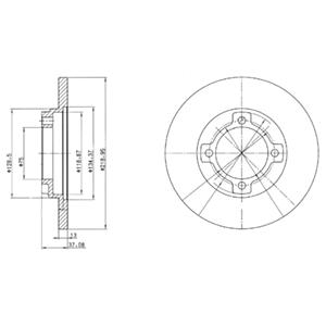 BG3083 Диск тормозной