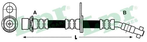 6T47434 Шланг тормозной TOYOTA AVENSIS 97-03 передний правый