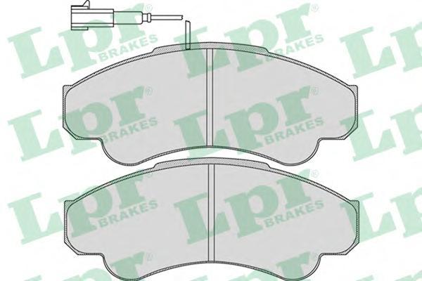 05P967 Колодки тормозные FIAT DUCATO 02/CITROEN JUMPER/PEUGEOT BOXER 94(1800кг) перед