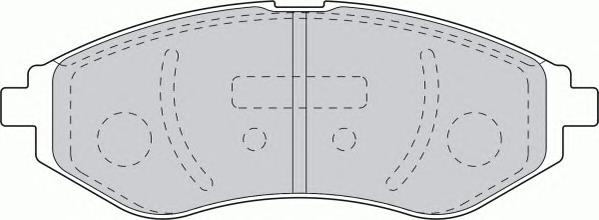 FDB1699 Колодки тормозные CHEVROLET AVEO 1.2-1.4 06- передние