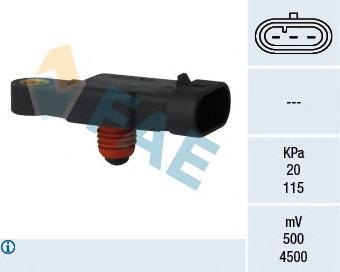 15117 Датчик, давление во впускном газопроводе