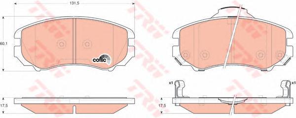 GDB3352 Колодки тормозные HYUNDAI TUCSON/KIA SPORTAGE 04- передние