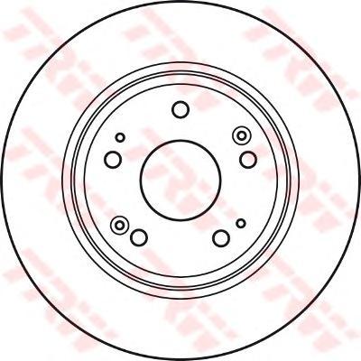 DF4982 Диск тормозной HONDA ACCORD 08- задний D=282мм.