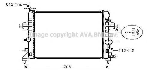 OLA2363 Радиатор OPEL ASTRA H 1.6/1.8 04-