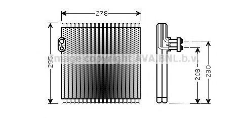 TOV485 Испаритель кондиционера TOYOTA CAMRY / LEXUS ES240-350 06-