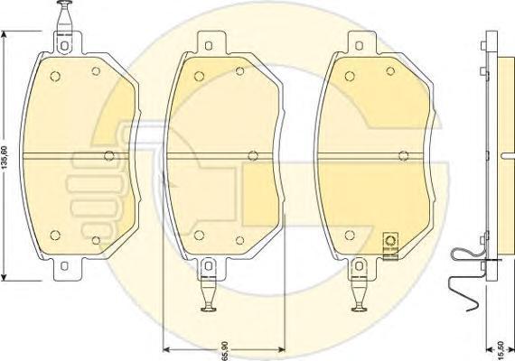 6134169 Колодки тормозные INFINITI FX35/45 03-/NISSAN MURANO 05- передние