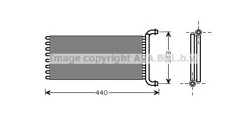 ms6399 Теплообменник, отопление салона