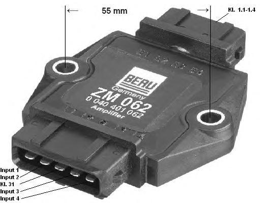 ZM062 Коммутатор системы зажигания AUDI: A4 1.8 T/1.8 T quattro 94-00, A4 Avant 1.8 T/1.8 T quattro 94-01, A6 1.8 T/1.8 T quattr