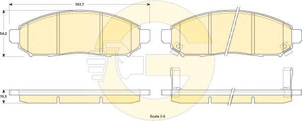 6135209 Колодки тормозные NISSAN LEAF Electric 10- передние