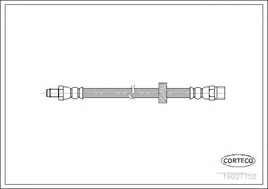 19027752 Шланг тормозной Re Volvo 265мм