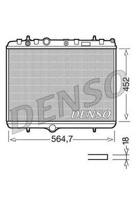 DRM21055 Радиатор CITROEN C4/C5 04- PEUGEOT 307 03-/ 308 07-/ PARTNER 08-