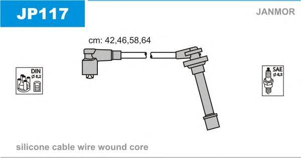 JP117 Комплект проводов зажигания NISSAN: MICRA 92-03