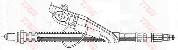 PHC291 Шланг тормозной FORD FIESTA 95-02 передний правый