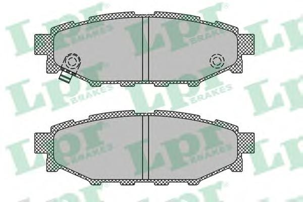 05P1408 Колодки тормозные SUBARU LEGACY 03/OUTBACK 03 2.0/2.5 задние