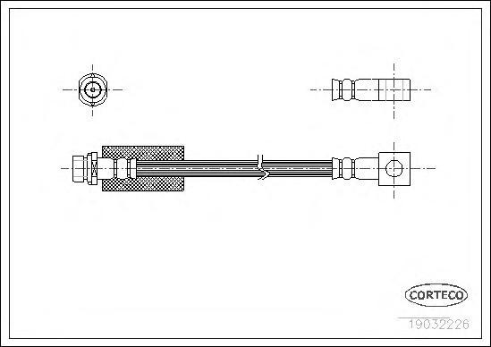 19032226 Шланг тормозной Re FO Mondeo 96-00 337мм