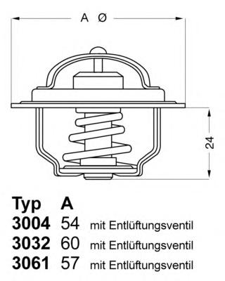 300492D1 Термостат FORD KA 1.0-1.3 96-08 / MAZDA 121 1.3 96-