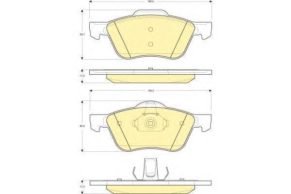 6132722 Колодки тормозные NISSAN PRIMERA P11 2.0 96-02 передние