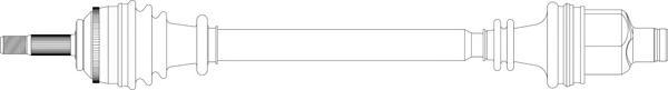 RE3337 Привод в сборе RENAULT MEGANE I 1.4-2.0 96-03 прав. +ABS