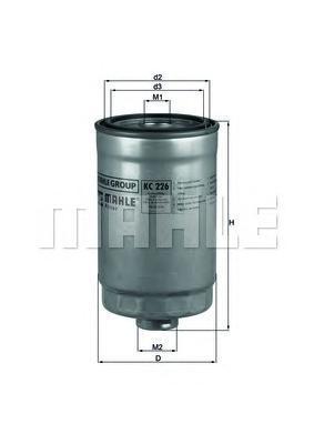 KC226 Фильтр топливный KIA/HYUNDAI 1.1D-2.5D 03-